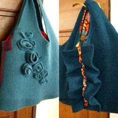 Old Felted Wool Sweater to Laptop Bag Case craft Tutorial