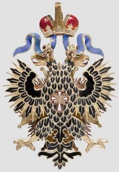"This Imperial Russian ""Order of the White Eagle ""dates to pre-1900, with later modifications. Before becoming Poland's highest decoration, the medal was embraced by Imperial Russia. Rendered in striking yellow and red gold, the maker's mark ""IK"" is visible on its clasp alongside a clasp, eagle's talons and a double-headed eagle. The medal's fineness has been marked as ""56"" which was added in St Petersburg."