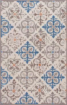 Fleur-de-LisLV16 Floral Arrow Trellis Rug