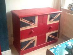 Emperors silk, old white and Aubusson blue. Distressed Furniture, Painted Furniture, Cousin, Mini Coopers, Annie Sloan Chalk Paint, Union Jack, Color Pallets, Madness, Stool