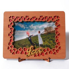 Wood Picture Frame, special wooden Gift for him, boyfriend, man, husband or her, girlfriend, women, wifer on AMAZON