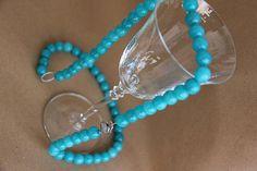 collana giada turchese argento 925 rodiato hand made necklace