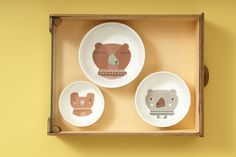 Daddy, Mommy & Baby  Bear Bowl