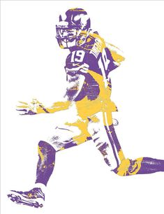 Adam Thielen MINNESOTA VIKINGS PIXEL ART 10 Art Print by Joe Hamilton. Minnesota Vikings Football, Best Football Team, Football Stuff, Football Players, Diggs Vikings, Vikings 2, Minnesota Vikings Wallpaper, Viking Wallpaper, Corvette Summer