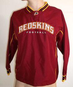 Reebok NFL Washington Redskins top Jacket Windbreaker Size M age 10-14 Nfl  Shirts d6fec6ef01051