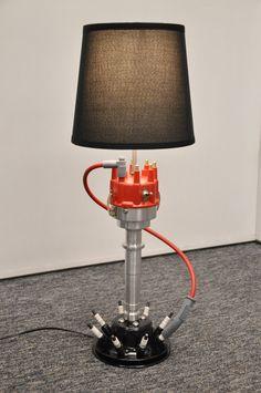 Elegant Custom Distributor Lamp Man Cave Chevy Ford By SpeedLamps