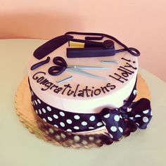 Beauty school graduation cake by 2tarts Bakery / New Braunfels, TX / www.2tarts.com