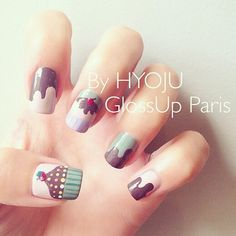 Nail art by GLOSS'UP spécial salon du chocolat