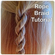 Learn how to do an easy rope braid on this blog