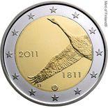 2 euro anniversary of Bank of Finland - 2011 - Series: Commemorative 2 euro coins - Finland Piece Euro, Euro Coins, Valuable Coins, Coin Design, Gold And Silver Coins, Commemorative Coins, Gold Bullion, World Coins, Coin Collecting
