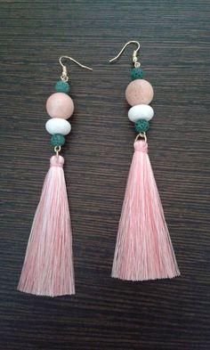 Diy Tassel, Tassel Jewelry, Bridal Jewelry, Diy Jewelry, Beaded Jewelry, Diy Earrings, Tassel Earrings, Crochet Earrings, Jewelry For Her