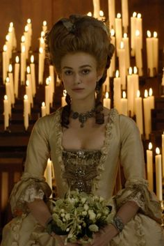 The Duchess: Keira Knightly as Georgiana Spencer Cavendish, Duchess of Devonshire. This movie has a few tear jerking moments, get out the hankies. I loved this movie, of course any time period movie with beautiful costumes, lights my fire!