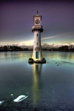 Roath Park Lighthouse At Dusk | Flickr - Photo Sharing!