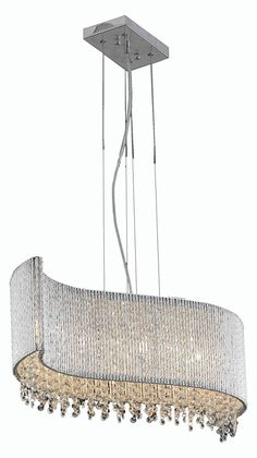 2090 Influx Collection Hanging Fixture L32In W14In H10In Lt:5 Chrome Finish (Roy