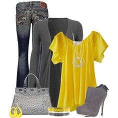 """""""Yellow"""" by cindycook10 on Polyvore"""