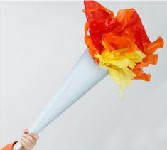 Réalisez une flamme olympique avec Wesco pour le carnaval Plush Dolls, Egypt, Paper Crafts, Sport, Birthday, Kids, Carnival, Olympic Flame, Olympics