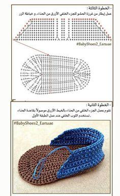 Zapatos a crochet parte 3