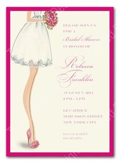 This would be cute for the bridal shower invite!