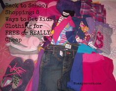 Back to School Shopping: 8 Ways to Get Kids Clothing for FREE or REALLY Cheap