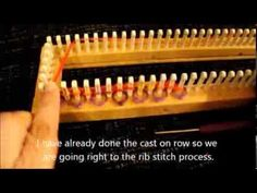 (2) How To Do The Rib Stitch On A Loom As A Flat Panel - YouTube