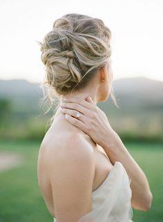 A soft bridal updo. #weddinghair #bride