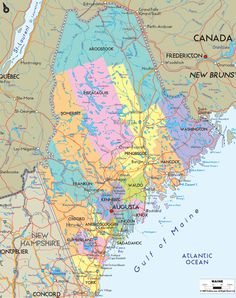 """Bangor:  home of Stephen King  Portland: right on the ocean  Bar Harbor: Home of Acadia National Park  """"The County"""": home of the Maine potato!  For those from away: """"the county"""" is Aroostook County, way up north!"""