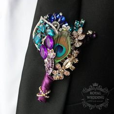 Eye-pleasing weddings recommendation for arranging a gorgeous memory. Read this fantastic pin image number 3130782016 here. Boutonnieres, Purple Boutonniere, Groom Boutonniere, Peacock Wedding Colors, Purple Wedding, Peacock Theme, Wedding Flowers, Peacock Art, Prom Flowers