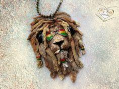 Кулон Раста Лев - лев,раста,растаман,дреды,Король лев,необычный,уникальный
