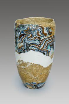 Blue Tones, Paper Mache, Stoneware, Objects, Porcelain, Pottery, Vase, Ceramics, Decorating