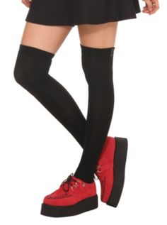 outfit #15 & #16 LOVEsick Black Over-The-Knee Socks $6.38