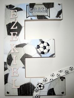 Sports Soccer 3D Custom Wall Letter Baby by BearySpecialScrappin, $24.99