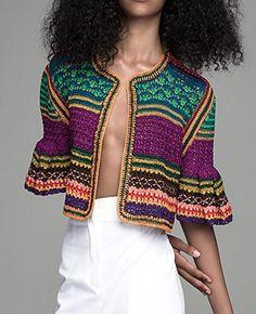 Spencer Vladimir - Tulum Bell Crochet Cardigan Gilet Crochet, Crochet Coat, Crochet Jacket, Crochet Cardigan, Crochet Stitches, Knitting Designs, Knitting Patterns, Crochet Skirts, Crochet Dresses