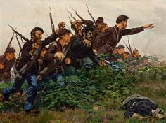 Union Soldiers in Combat by William T Trego(1895)