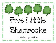 Five Little Shamrocks--printable book