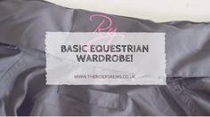 So today I thought I would share the basic wardrobe that I have for riding and looking after my horses! It really depends on where you li...