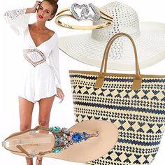 Ecco un outfit sempre per il mare....bianco! Un colore che mette in risalto la vostra abbronzatura e aiuta in queste giornate caldissime. Perfetto anche per andare in bicicletta -)