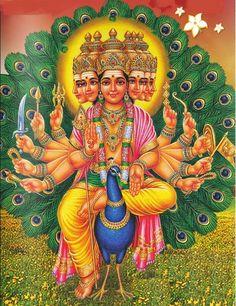 He is the son of Parvati and Shiva, brother of Ganesha, and a god whose life story has many versions in Hinduism Lord Ganesha Paintings, Ganesha Art, Krishna Painting, Tracing Art, Lord Murugan Wallpapers, Hindu Rituals, Lord Shiva Family, Lord Mahadev, Tanjore Painting
