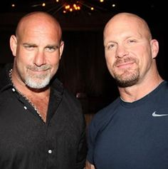 Goldberg vs Stone Cold Steve Austin...what I would give to be between those two. :-D