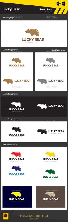 Hi Friends... My logo design... Lucky Bear... Pls visit and comment... it's only 29$...