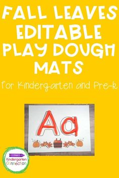Play dough mats are such a GREAT early childhood education activity! Not only are they extremely beneficial for literacy, exploring ABCs, beginning sounds and sight words but when used with play dough they become a fantastic sensory activity that helps strengthen fine motor skills and so much more. Great for Pre-K and Kindergarten students. This fall themed mat has cute pumpkins and fun fall leaves and It's FREE! #learningactivities #kindergarten #prek #preschool #finemotorskills