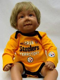 Steelers Baby My Crib Long Sleeve Bodysuit Set Pittsburgh Steelers Merchandise, Long Sleeve Bodysuit, Cribs, Sleeves, Baby, Cots, Bassinet, Baby Crib, Baby Humor