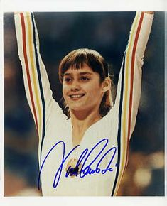 Nadia!... the first perfect 10 in Gymnastics.