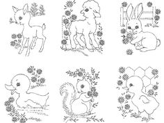For you a PDF file that is instantly downloadable of this Vintage Hand Embroidery Design. When you purchase your pattern you will be sent and email from Etsy with a link to your pattern. My Designs are all out of print and hard to find. Each pattern is in public Domain.  Design 7436 Nine Animals for a Crib Quilt and Quilt pattern.  This set contains 9 designs all about 7X7 inches. Also included are copies of the original instructions, embroidery stitches and color guide.  The animals…