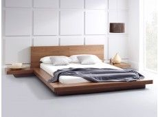 Emer Natural Walnut Platform Bed