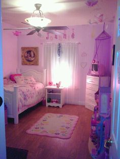 Girls Princess Room... Canopy over dresser vs bed Little girls won't tear it down