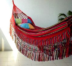 Colombian Forytex Cross-Woven Hammock - CARTAGENA Borders Only - (Red Green Blue)