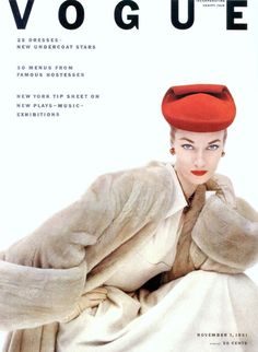 Janet Randy in Balenciaga, cover photo by Clifford Coffin, 1951