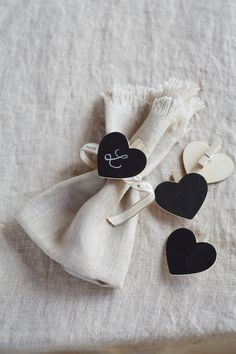 Heart Chalkboard Picks from Cox & Cox (would also be an easy DIY)