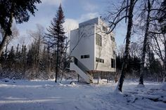 The Pole House is a year round cottage designed for a couple and their son on a heavily wooded site in the Manitoba Interlake, two and a half hours North of ...