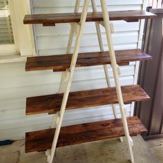 Image result for diy ladder shelves